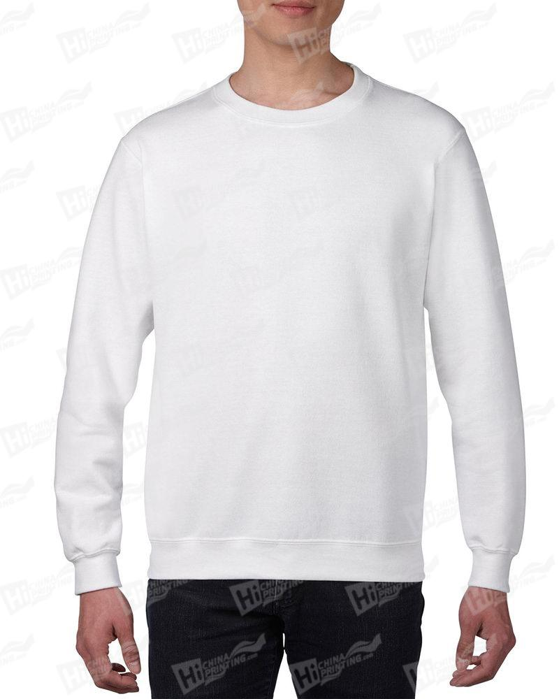 Gildan Mens Sweatshirt For DIY-White One