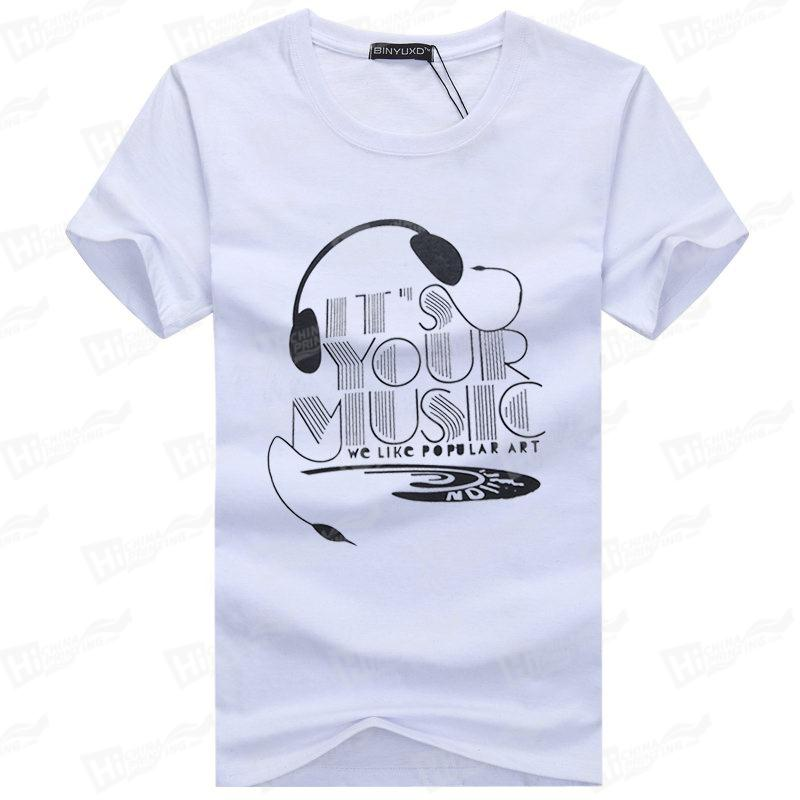 IT'S YOUR MUSIC--Screen Printed Men's Short-Sleeve Tee Shirt For Wholesale