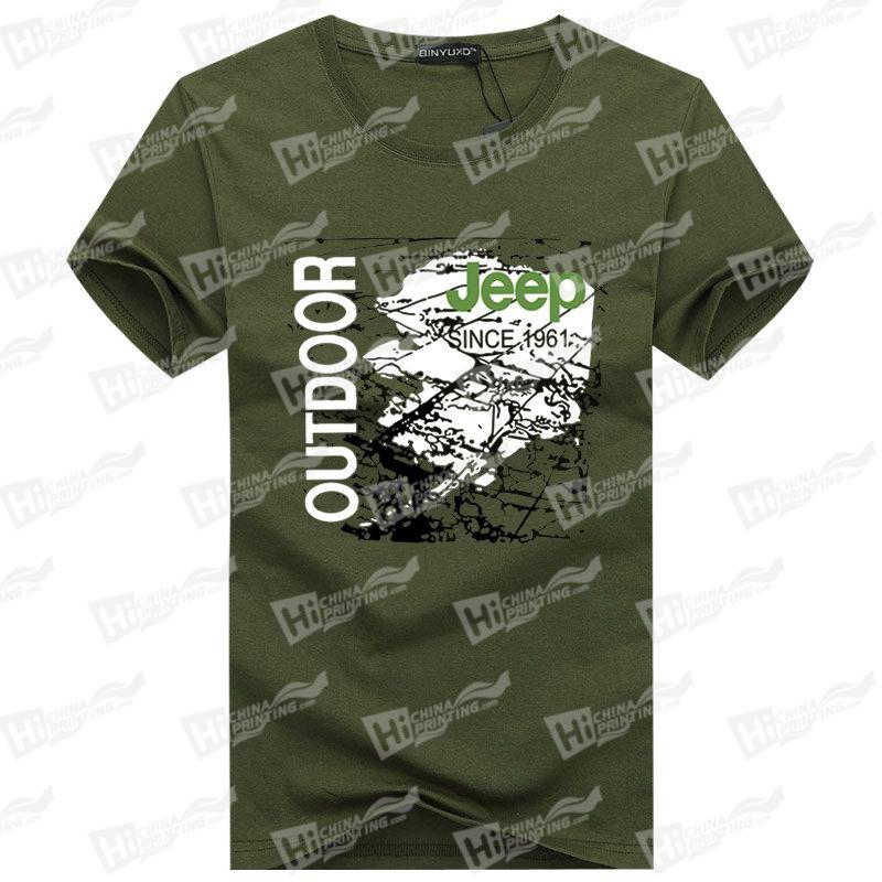 Jeep Outdoor Men's Short-Sleeve T-shirts With Heat Transfer Printing