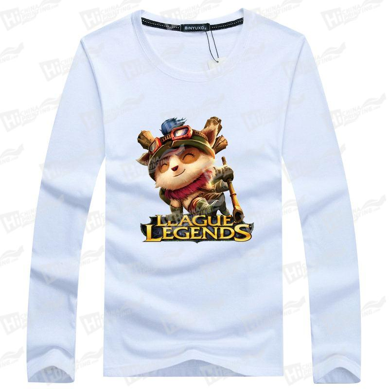 League Of LegendsTeemo-Top Quality Men's Long-Sleeve T-shirts Printing Services