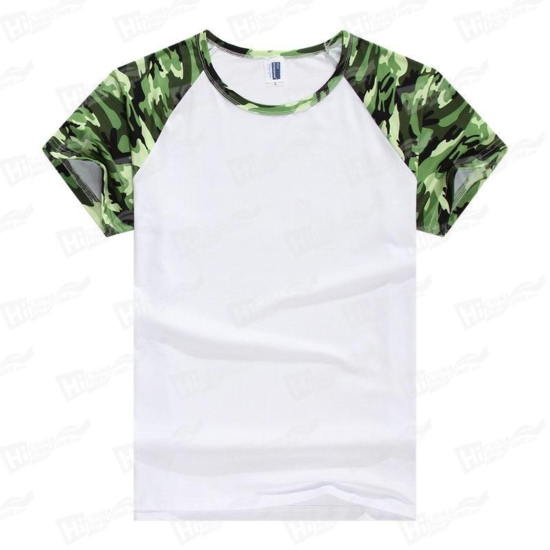 Men's Camouflage Star ry Sky Raglan Short-Sleeve T-shirts For DIY