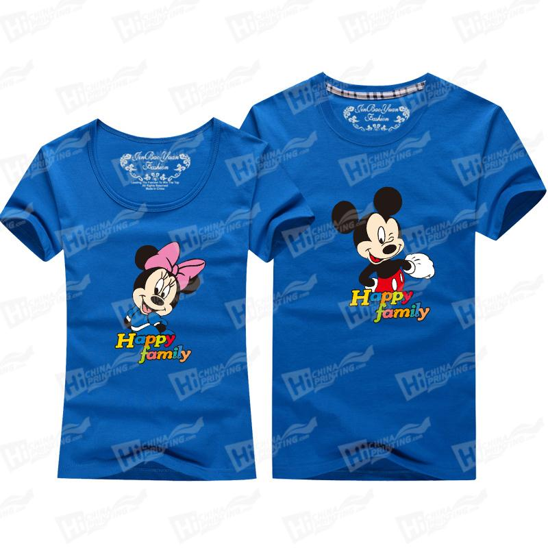 Mickey And Mini Mouse Short-Sleeve T-shirts Printing Services For Lovers' Matching Outfits