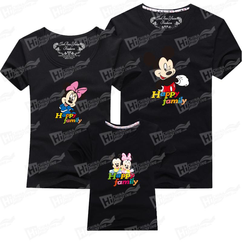 Mickey Mouse Short-Sleeve T-shirts For Family Matching Outfits