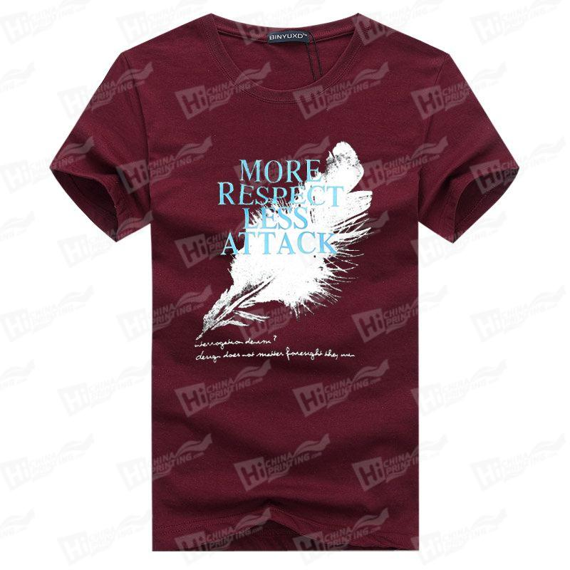 More Respect, Less Attack--Screen Printed Men's Short-Sleeve Tee Shirt For Wholesale