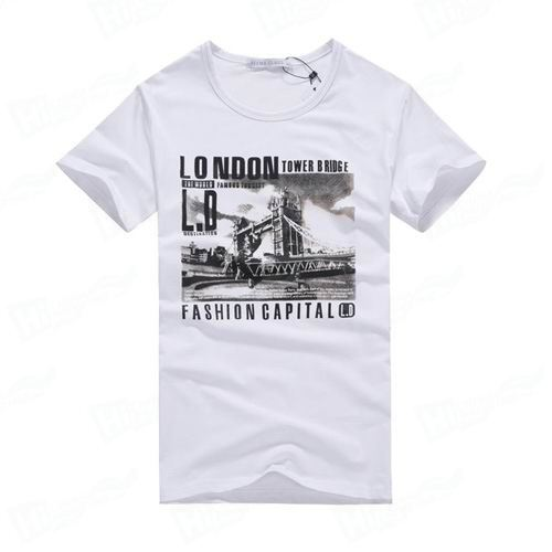 Plain White T shirt With Short Sleeve Crew Neck