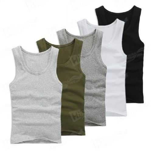 100% Cotton Tank Tops For Man
