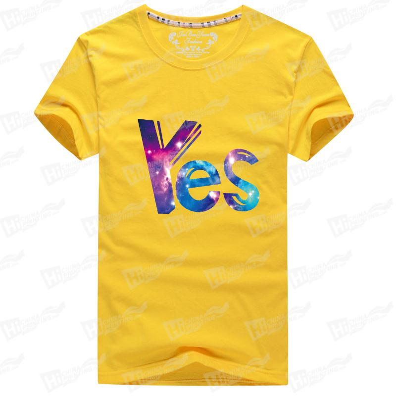 Starry Sky Men's Short-Sleeve T-shirts Printed With Yes For Wholesale