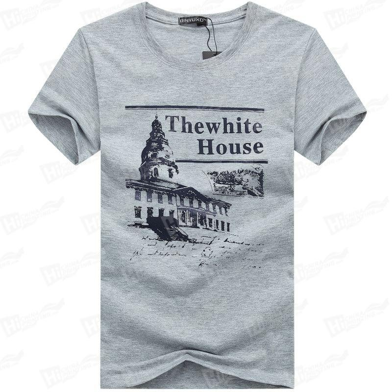 The White House-Silk Printed T-shirts Stock For Wholesale