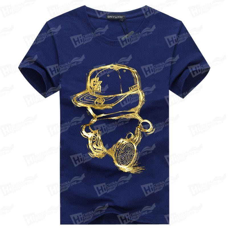The Gold Naughty Boy--Screen Printed Men's Short-Sleeve Tee Shirts For Wholesale