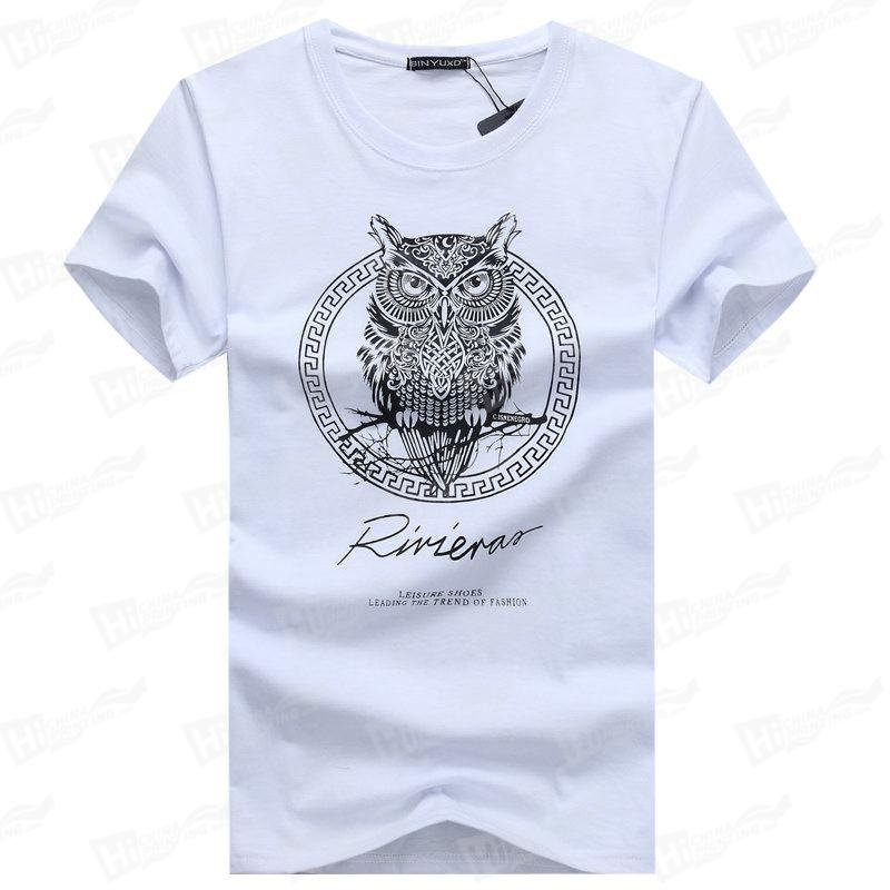 The Owl--Screen Printed Men's Short-Sleeve Tee Shirts For Wholesale