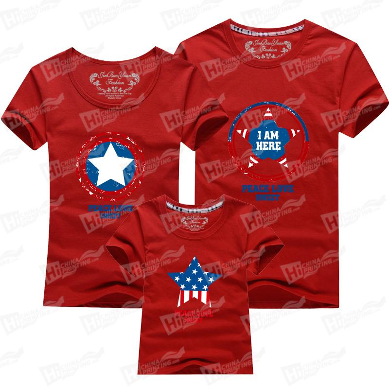 The Pentagrams Family Matching Outfits T-shirts Printing Services
