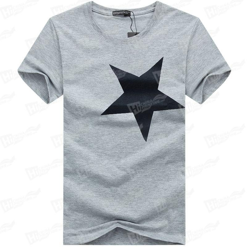 The Star--Screen Printed Men's Short-Sleeve Tee Shirts For Wholesale