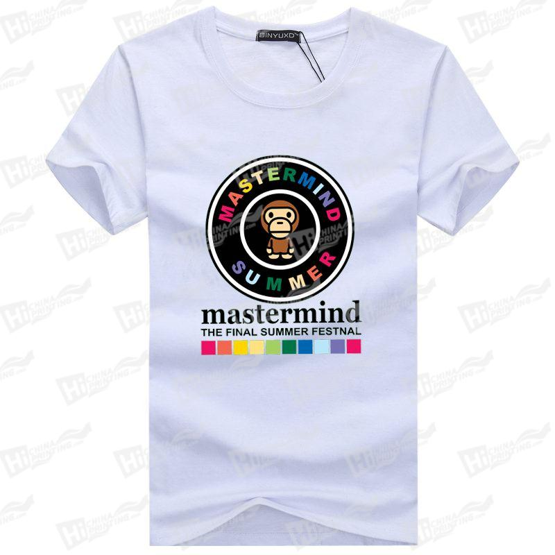 Top Quality Heat Transfer Printed Men's T-shirts With Mastermind