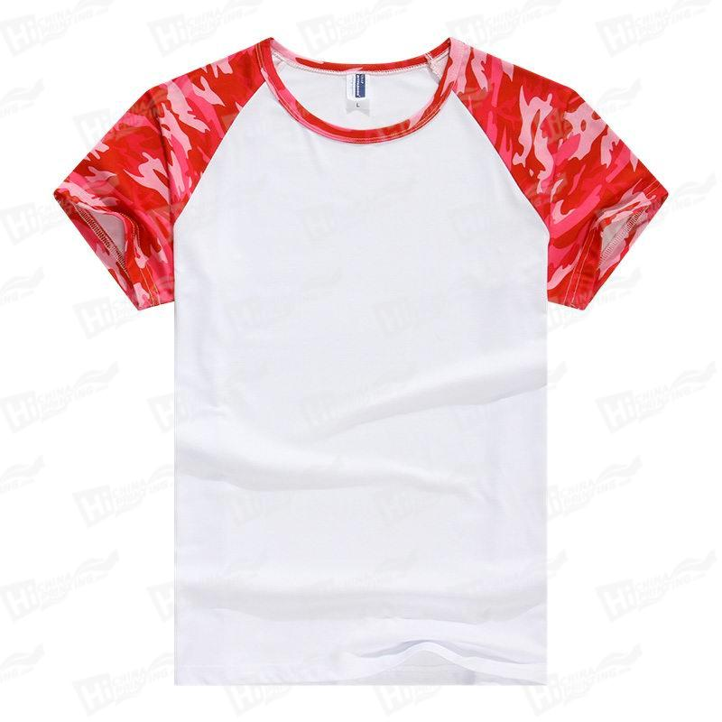 Wholesale Red Camouflage Starry Sky Raglan Short-Sleeve T-shirts
