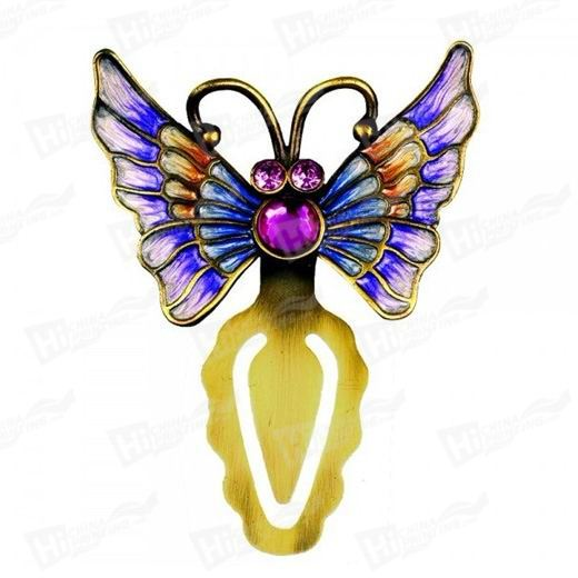 Beautiful Butterfly Metal Bookmarks With Diamands