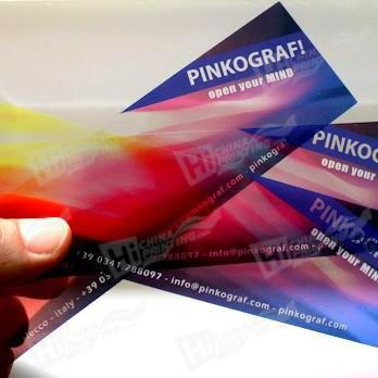Clear Plastic PVC Bookmarks Printing