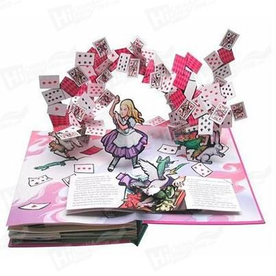 New Design Perfect Binding Pop-up Book With Hardcover