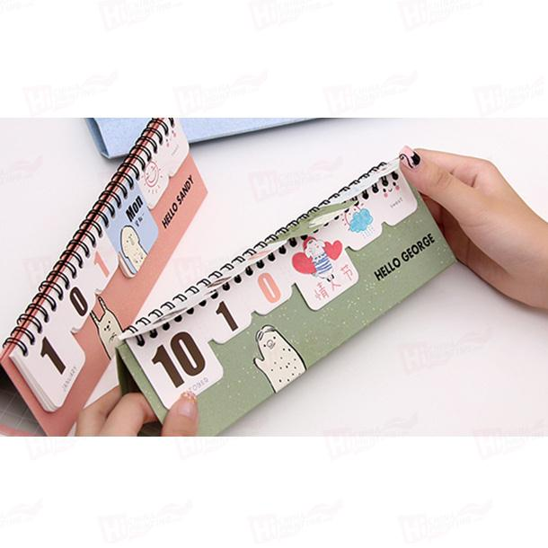 Made In China Mini Desk Calendar Customized Design