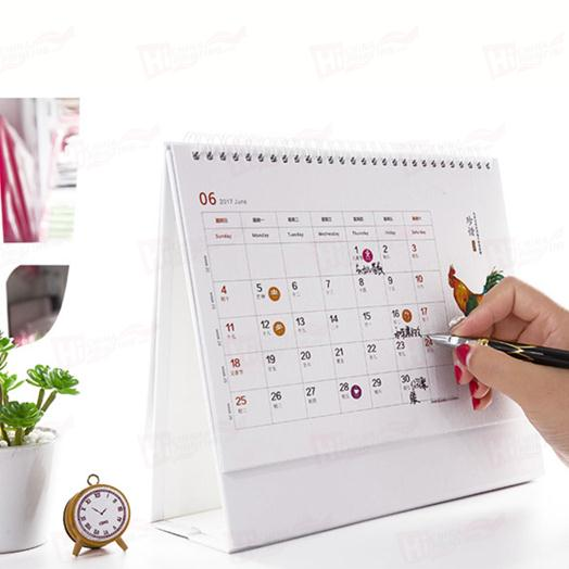 Factory Hot Sales Printing Paper Calendar Supplier