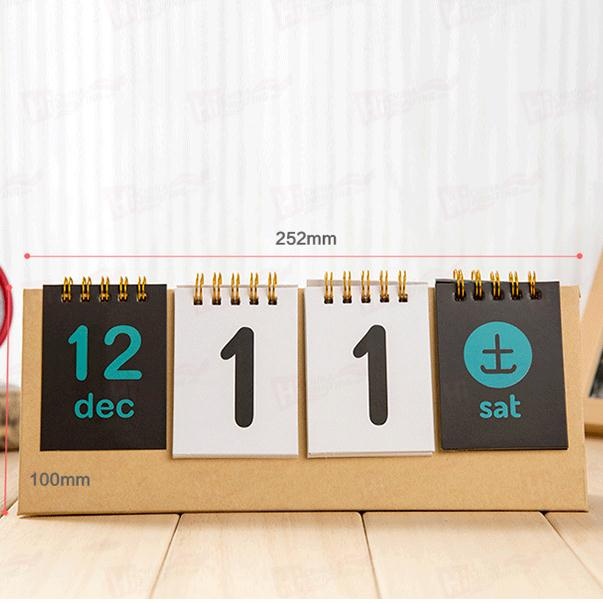 Portable Calendar Printing Service Paper Cardboard Customized