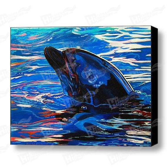 Dolphins Canvas Printing