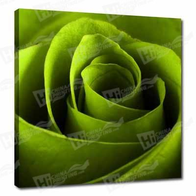 Green Flower Canvas Printing