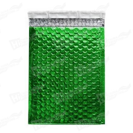 Green Metallic Bubble Envelopes