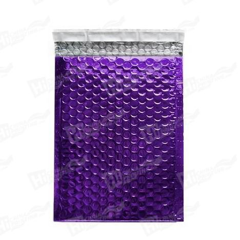 Purple Metallic Bubble Envelopes