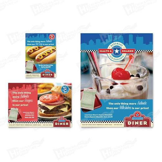 American Diner Restaurant Flyers Printing
