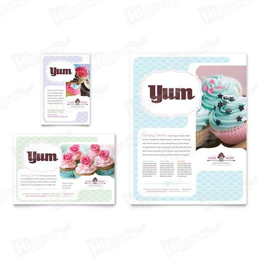 Cake Shop & Bakery Flyers Printing
