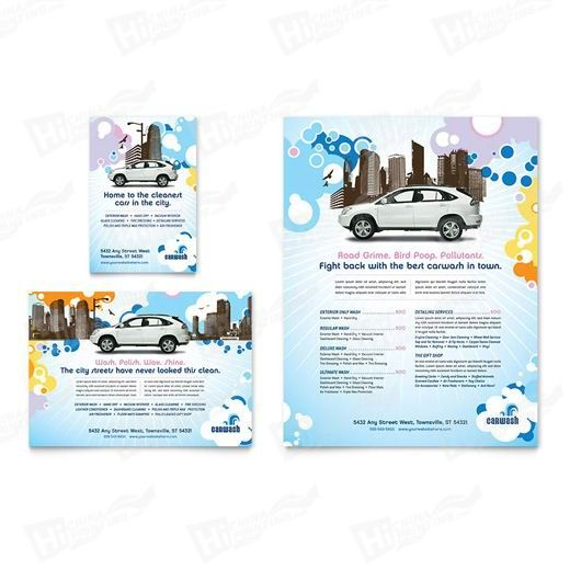 Car Wash Flyers Printing