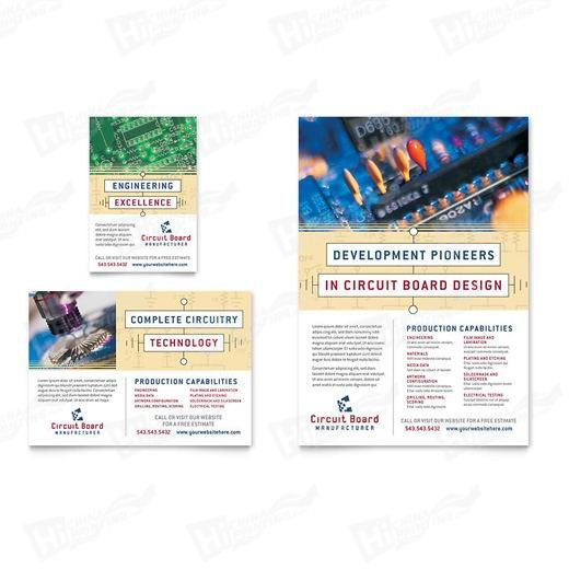Circuit Board Manufacturer Flyers Printing