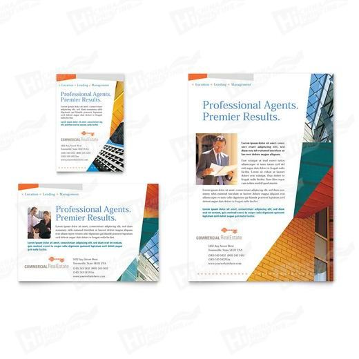 Commercial Real Estate Property Flyers Printing