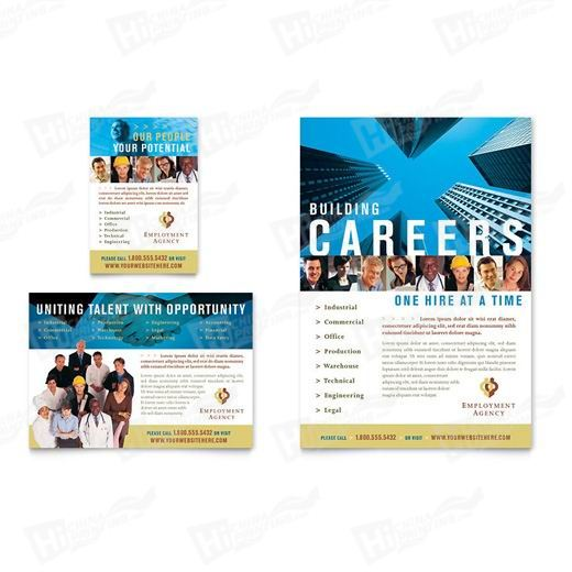 Employment Agency & Jobs Fair Flyers Printing