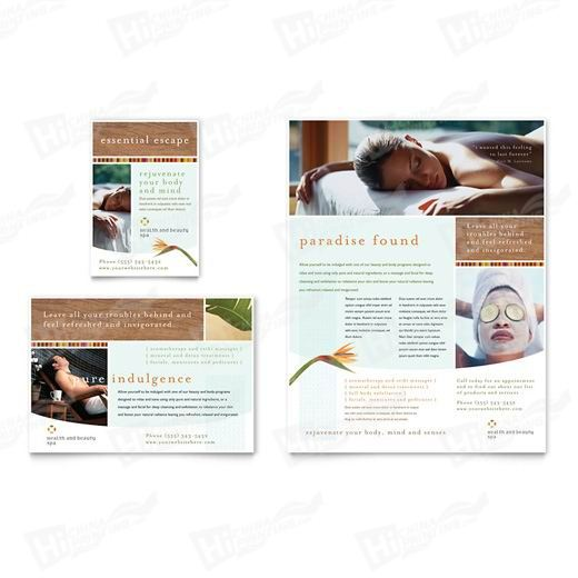 Health & Beauty Spa Flyers Printing