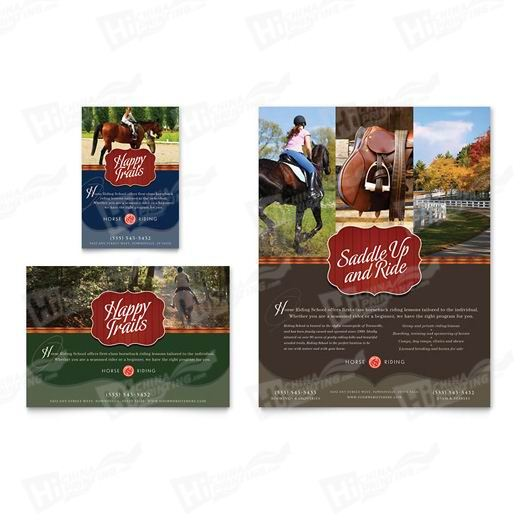 Horse Riding Stables & Camp Flyers Printing