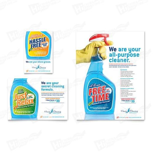 House Cleaning & Housekeeping Flyers Printing