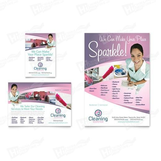 House Cleaning & Maid Services Flyers Printing