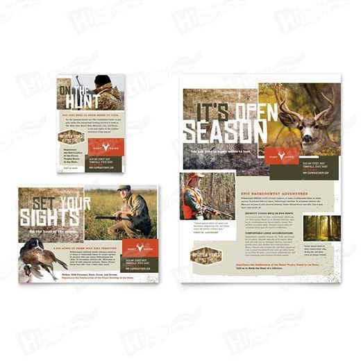 Hunting Guide Flyers Printing