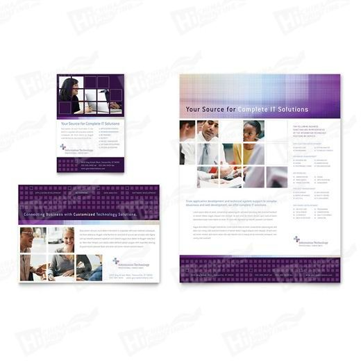 Information Technology Consultants Flyers Printing