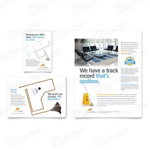 Janitorial & Office Cleaning Flyers Printing