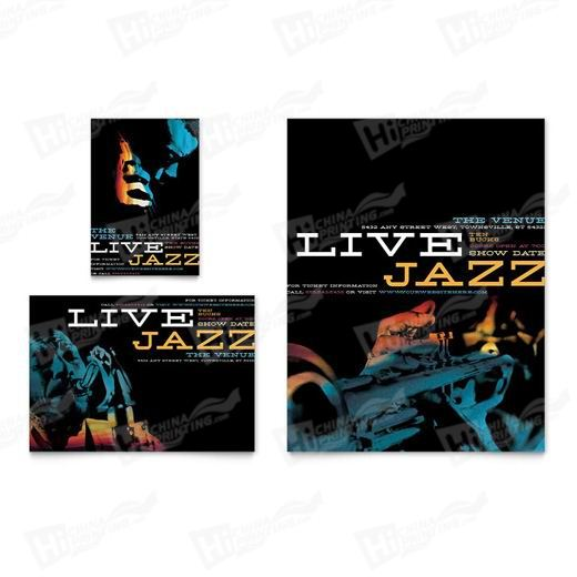 Jazz Music Event Flyers Printing