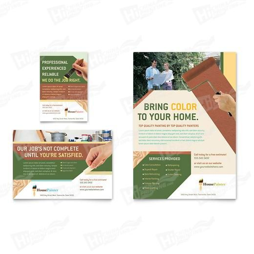 Painter & Painting Contractor Flyers Printing
