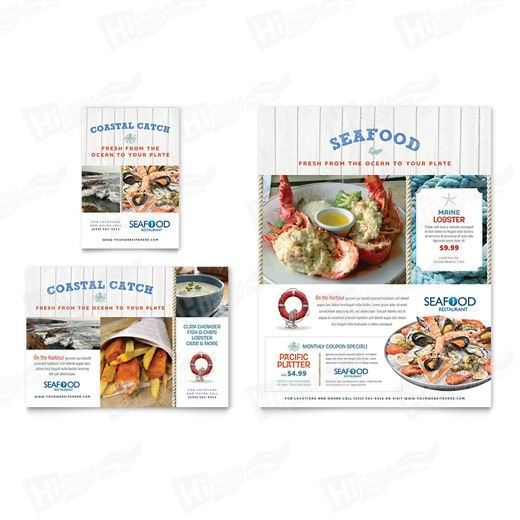 Seafood Restaurant Flyers Printing