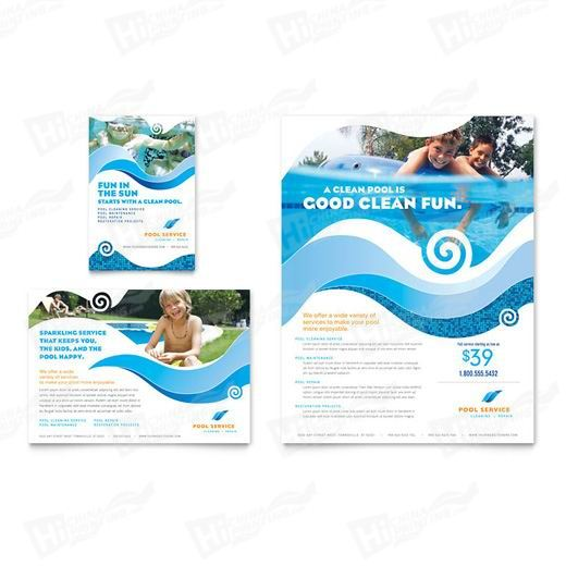 Swimming Pool Cleaning Service Flyers Printing
