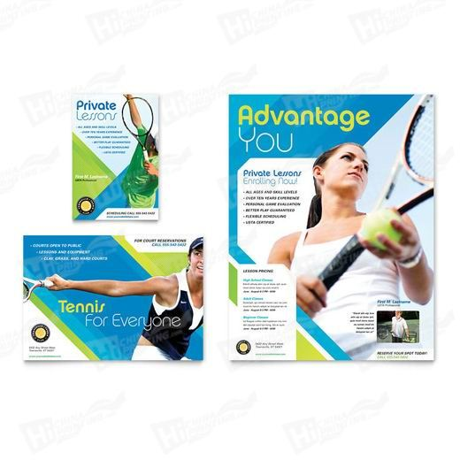 Tennis Club & Camp Flyers Printing