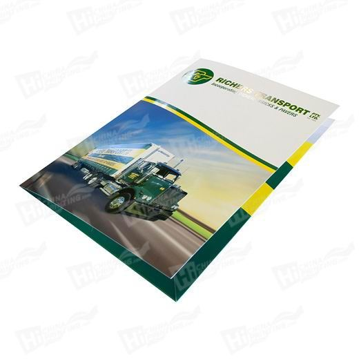 1 Sided Glossy Presentation Folders Printing