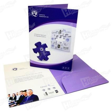 Matt Laminated Presentation Folders Printing