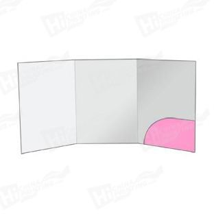 Round Style A4 6-Panel Pocket Folders Printing