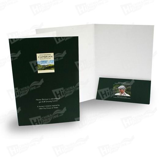 Slanted Style A4 Single Pocket Folders Printing With 5mm Capacity